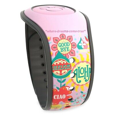 "Disney Parks MagicBand Magic Band 2 ""Its A Small World"" Goodbye Pink (NEW)"