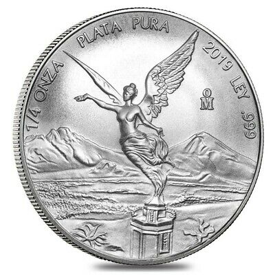 2019 Mexican Libertad 1/4 oz .999 Silver Very Limited Round Bullion BU Coin