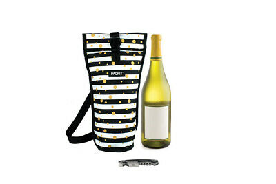 New Packit Freezable Cooler Wine Drinks Carry Bag - Celebration Dot