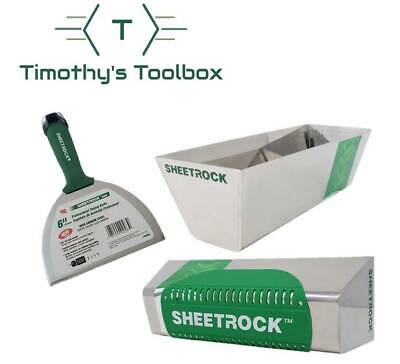 """USG Sheetrock Pro Drywall Mud Pan, Pro Series 6"""" Knife and Magnetic Grip Combo"""