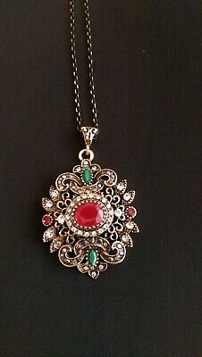 VINTAGE STYLE TURKISH Jewelry Set Necklace Earrings Antique