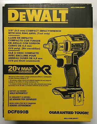 """BRAND NEW DEWALT 20V MAX XR 3/8"""" Compact Impact Wrench (Tool Only)"""