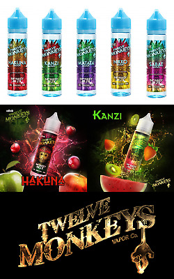 Twelve Monkeys Shake & Vape E-Liquid 12M 50 ml ( 23,00 - 25,80 € / 100 ml )