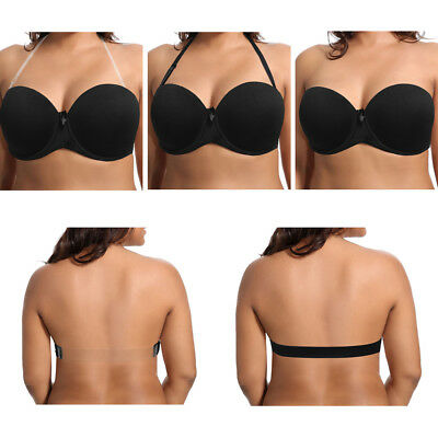f74bad2d65 Strapless Push Up Convertible Bra with Clear Back Strap for wedding or  Ballet