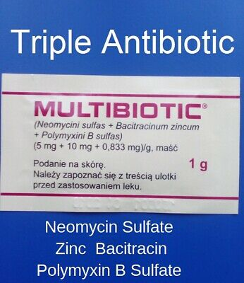 8 x 1g First Aid Triple antibiotic cream ointment Prevent infection