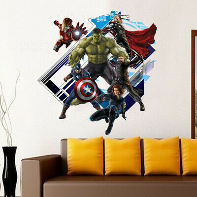 Super Hero Avengers Hulk Peel and Stick Wall Sticker Kids Room Stickers Cartoon