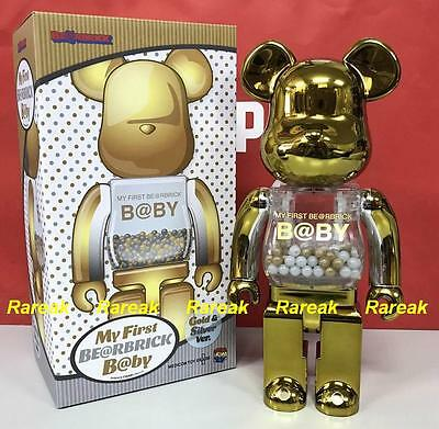 1d609ca3 Medicom Toy Plus Be@rbrick My First Baby 400% Gold & Silver Bearbrick 1pc