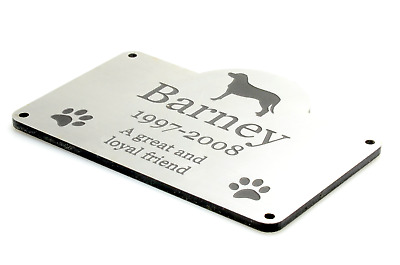 Personalised Pet Dog Memorial Plaque S - Outdoor Garden Waterproof