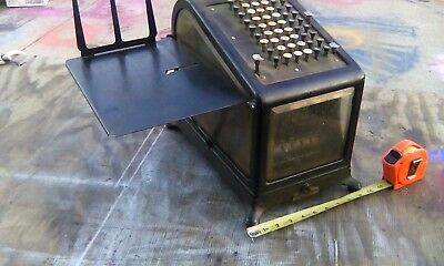 Antique Burroughs No.4 Adding Machine 60-Key Beveled Glass S/N 19360-R