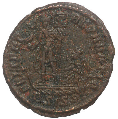ROMAN BRONZE COIN FOLLIS CONSTANS EMPEROR ON GALLEY VICTORIA SISCIA AE19 2,51g