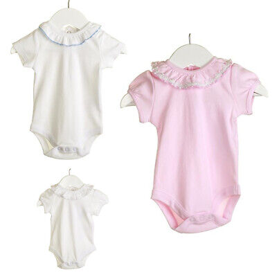 Newborn Baby Girl Boy Spanish Style Fancy Body Vest Bodysuit With Frill Collar