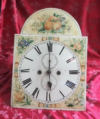 "Fabulous Complete 14"" Painted Dial Grandfather Longcase  Clock Movement Glasgow"