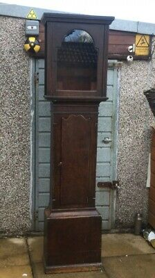 Antique Pine Grandfather Longcase Case Only For Restoration Upcycle Etc