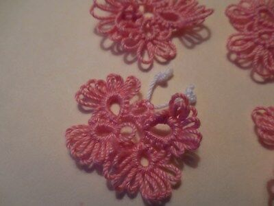 DOVE COUNTRY 7 Coral Tatted Butterflys Crazy Quilts Scrapbooking Tatting