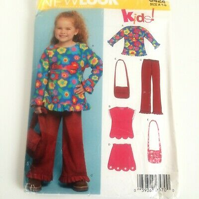 New look Sewing Pattern 6424 Girls Top & Trouser Age 3-8