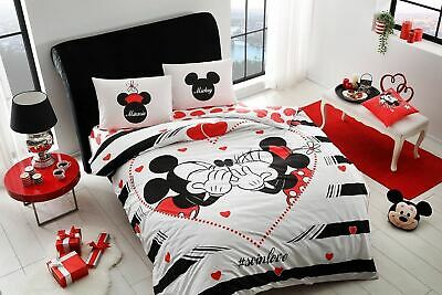 double queen size bedding set duvet quilt cover set disney mickey minnie mouse 1