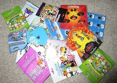 Disney TRADING PINS Lot OF 100 New Booster Mystery Pack Sets Random Selection