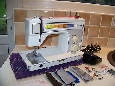 Toyota 221 Z/z 3 Needle Position  Heavy Duty Sewing Machine,acc,expert Serviced