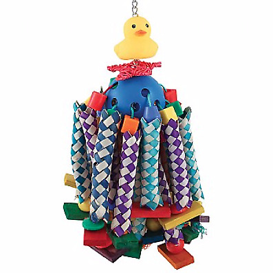 Lucky Ducky Long Legs Parrot Toy - African Greys, Amazons, Conures etc