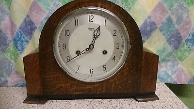 Smiths Enfield Art Deco 8 Day Striking Mantel Clock G.W.O