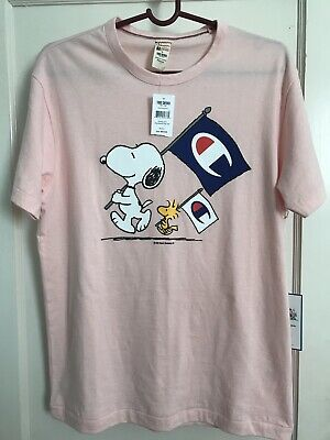 02faed11 TODD SNYDER x CHAMPION x PEANUTS SNOOPY WOODSTOCK FLAG T SHIRT Sz Med MUST L @