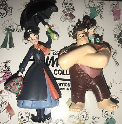 2 Disney Sketchbook Ornaments Figures Wreck It Ralph Vanellope Mary Poppins