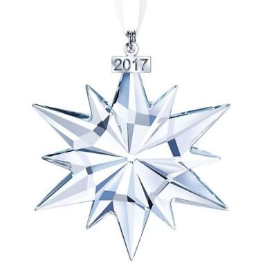 SWAROVSKI CRYSTAL- 2017 large .ANNUAL ORNAMENT - NEW IN BOX WITH COA
