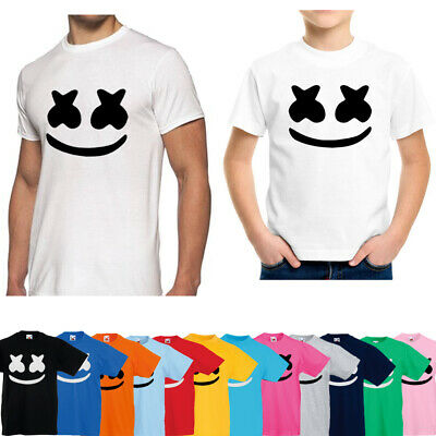 Marshmello Kids Adults T-Shirt Top Skin Game Gaming EDM DJ Music Dance Face Mask