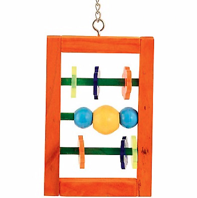 Spin and Slide Parrot Toy - Wood Toy With Parts That Slide And Spin Around