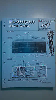 kenwood ka-v5500 7500 service manual original repair book stereo amp amplifier