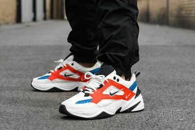 Nike M2k Tekno Trainers Summit White Black Team Orange