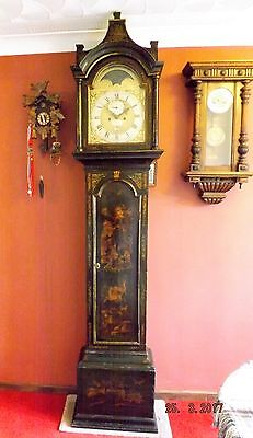 18thc London Pagoda top 5 Pillar 8 Day Longcase Clock