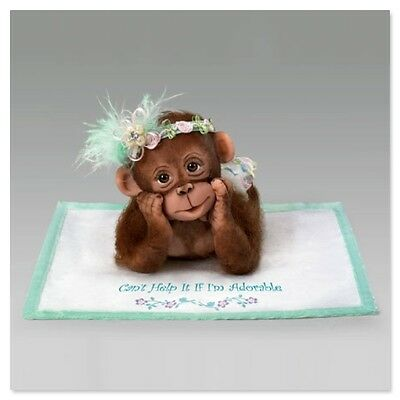 Ashton Drake I CAN'T HELP IT IF I'M ADORABLE Baby Monkey Doll by Cindy Sales