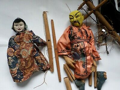 2 vintage handmade puppets FOR REPAIR - incomplete