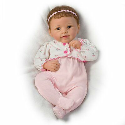 Ashton Drake SADIE Interactive Touch-Activated baby girl doll by Linda Murray