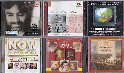job lot - 7 CDs Classical music: TV, Ads, Now That's What I Call, Bocelli, Proms