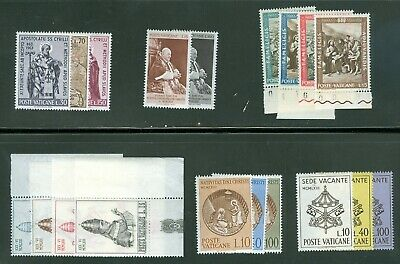 Vatican City 1963 Compete MNH Year Set