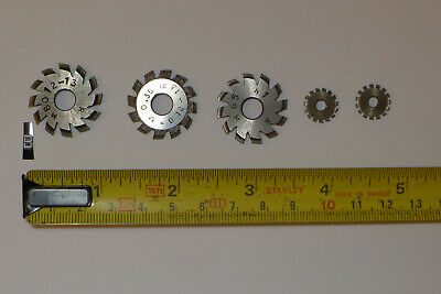 b) Assorted CLOCK WHEEL/PINION CUTTERS for engine/lathe restoration parts tools