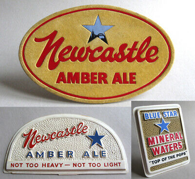 3 Vintage Scottish & Newcastle Breweries Pub Beer Ale Advertising Signs Plaques