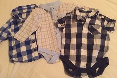 Job Lot Bundle Of 3 Baby Bodysuits  And Shirt Including Next Age Up To 3 Months