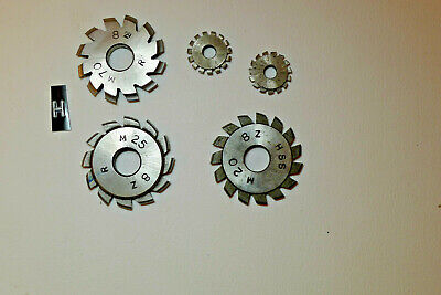 h) Assorted CLOCK WHEEL/PINION CUTTERS for engine/lathe restoration parts tools