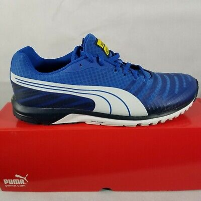 4276f4e6a3a3 PUMA Men s Faas 300 V3 Running Shoe Blue White Vibrant Yellow 187066 12  Size 12M