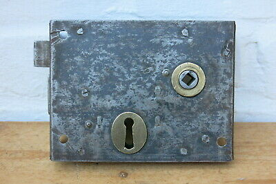 REFURBISHED Vintage STEEL & BRASS Rim Lock
