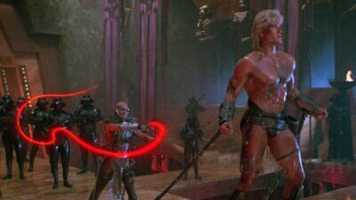 """Masters of the Universe - 1987 Prop  - """"Blade"""" """"Laser Whip"""" - Anthony de Longis"""