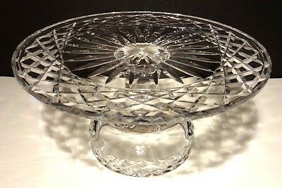 """*VINTAGE* Waterford Crystal ALANA (1952-) Pedestal Footed Cake Plate Stand 10"""""""