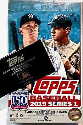 2019 Topps SERIES 1 Baseball - Hobby Box + 1 Silver Pack
