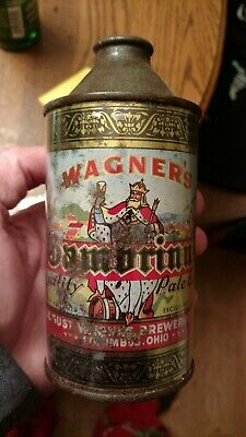 Wagner's Gambrinus Beer Cone Top Can - August Wagner Breweries, Columbus, OH
