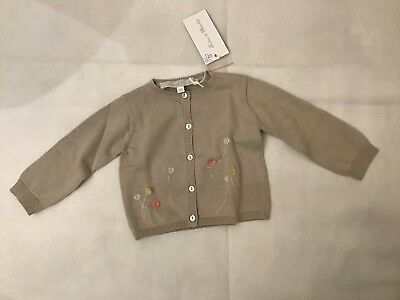 Tartine Et Chocolat Flower Detail Cardigan 3m NWT