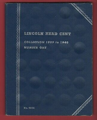 1909-1940 Lincoln Wheat Penny Partial Collection in a Whitman Album w/48 Coins