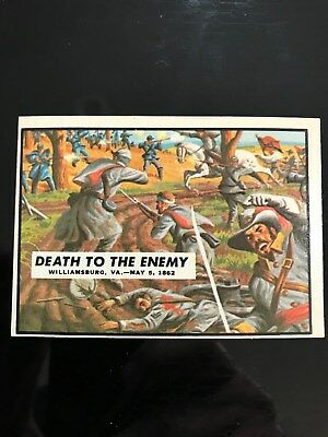 1962 Topps Civil War Trading- #18 Death to the Enemy